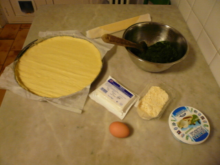 Ingredienti spanacopita